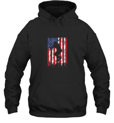 Vintage Patriotic American Flag Baseball Shirt USA Hoodie