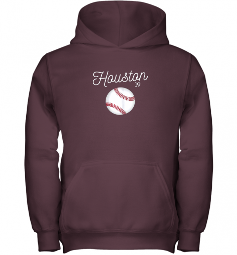 tsi1 houston baseball shirt astro number 19 and giant ball youth hoodie 43 front maroon