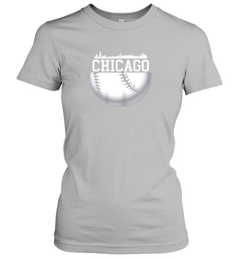 xbxy vintage downtown chicago shirt baseball retro illinois state ladies t shirt 20 front sport grey