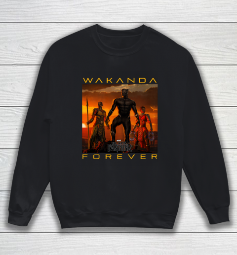 Marvel Black Panther Movie Wakanda Forever Graphic Sweatshirt