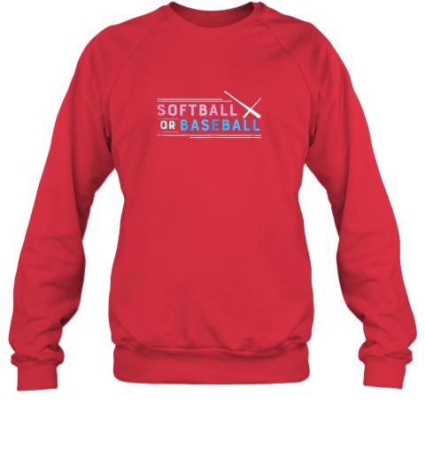 w7zm softball or baseball shirt sports gender reveal sweatshirt 35 front red