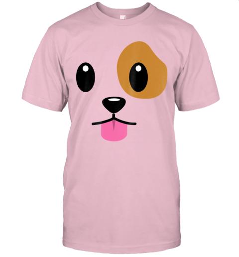 Puppy Dog Emoji Face Halloween Costume T-Shirt