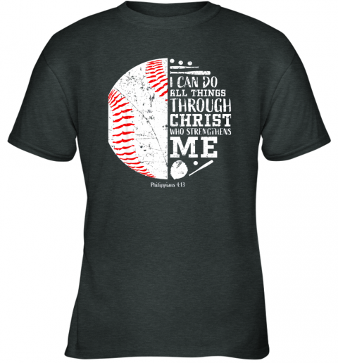 mjdn christian baseball shirts i can do all things through christ youth t shirt 26 front dark heather