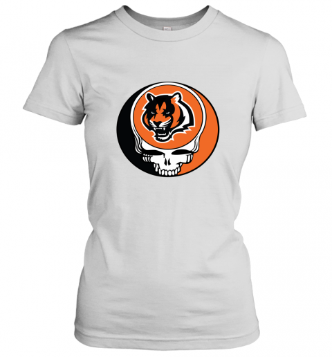 NFL Team Cincinnati Bengals x Grateful Dead Logo Band Women's T-Shirt