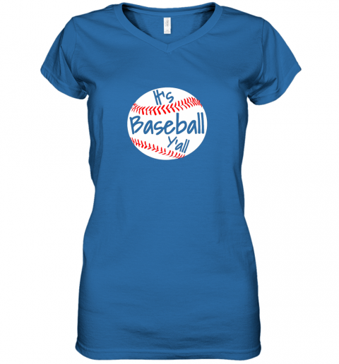 tzlp it39 s baseball y39 all shirt funny pitcher catcher mom dad gift women v neck t shirt 39 front royal