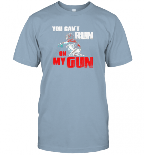 cwls you cant run on my gun shirt baseball jersey t shirt 60 front light blue