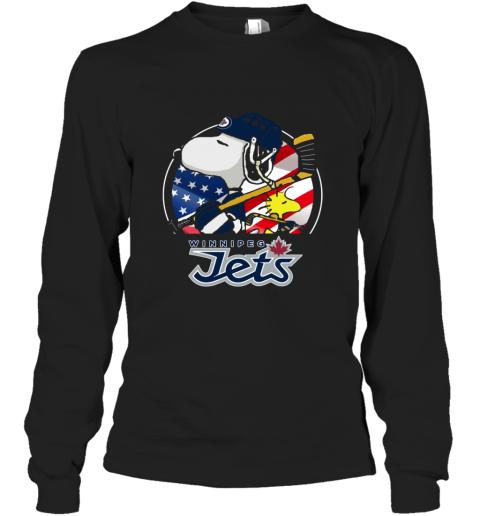 Winnipeg Jets  Snoopy And Woodstock NHL Long Sleeve T-Shirt