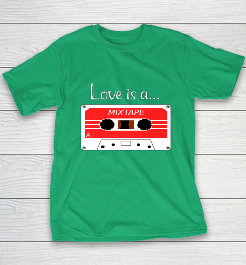 Love is a MixTape Retro Old School Valentine Youth T-Shirt 3