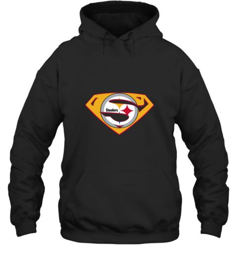 jogm superman steelers hoodie 23 front black