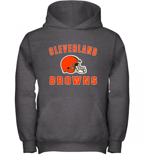 r6zh cleveland browns nfl line by fanatics branded brown victory youth hoodie 43 front dark heather