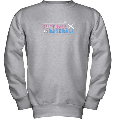 jlj7 softball or baseball shirt sports gender reveal youth sweatshirt 47 front sport grey