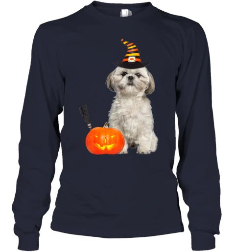 Shih Tzu Witch Hat Halloween Dog Costume Youth Long Sleeve