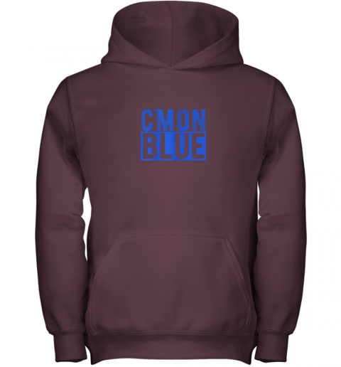 pkm7 cmon blue umpire baseball fan graphic lover gift youth hoodie 43 front maroon