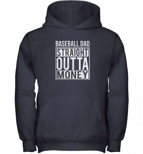 hnmp mens baseball dad straight outta money shirt i funny pitch gift youth hoodie 43 front navy