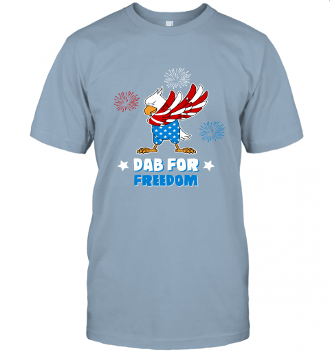 Bald Eagle American Dab For Freedom 4th Of July Unisex Jersey Tee
