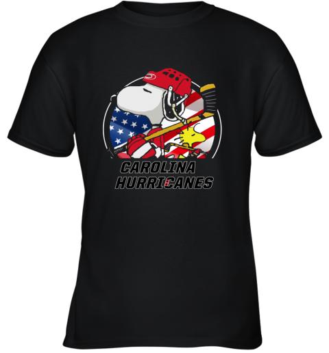 Carolina Hurricanes  Snoopy And Woodstock NHL Youth T-Shirt