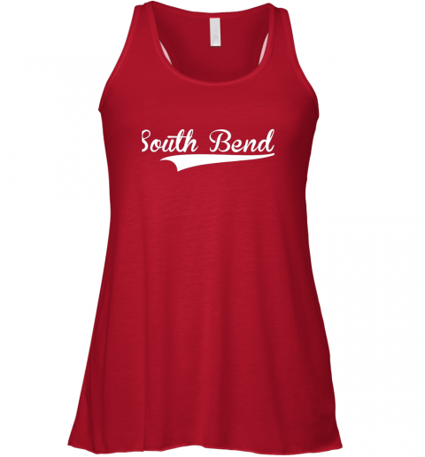 zep5 south bend baseball styled jersey shirt softball flowy tank 32 front red