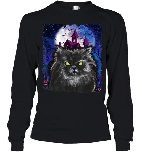 Scary Halloween Black Cat Costume Bat Haunted Creepy House Youth Long Sleeve