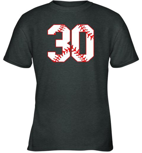 vwj1 thirtieth birthday party 30th baseball shirt born 1989 youth t shirt 26 front dark heather