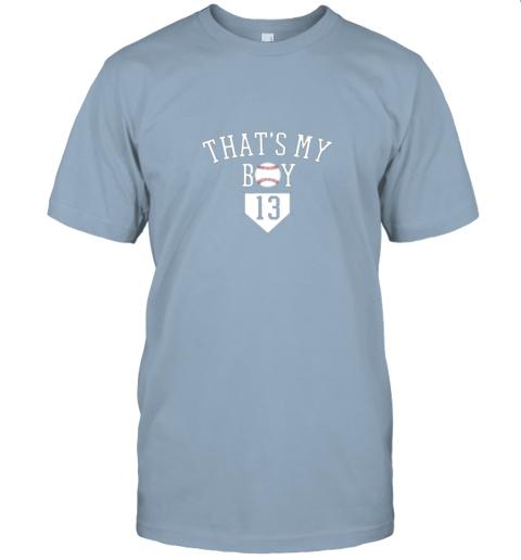 eyny that39 s my boy 13 baseball number 13 jersey baseball mom dad jersey t shirt 60 front light blue