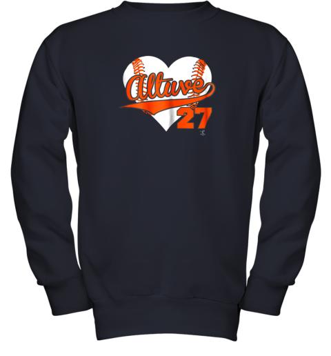 wdkq jose altuve baseball heart shirtapparel youth sweatshirt 47 front navy