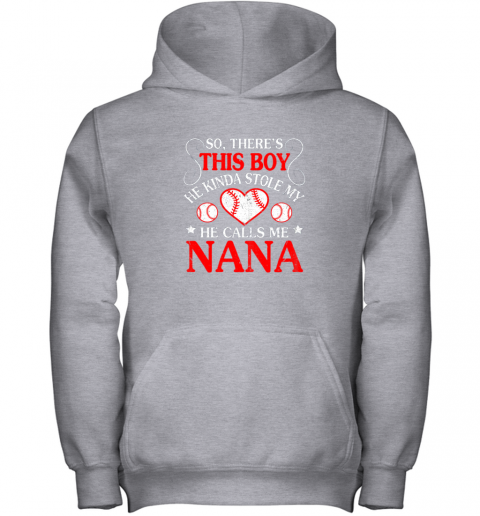 jd2v this boy he kinda stole my baseball heart he calls me nana youth hoodie 43 front sport grey