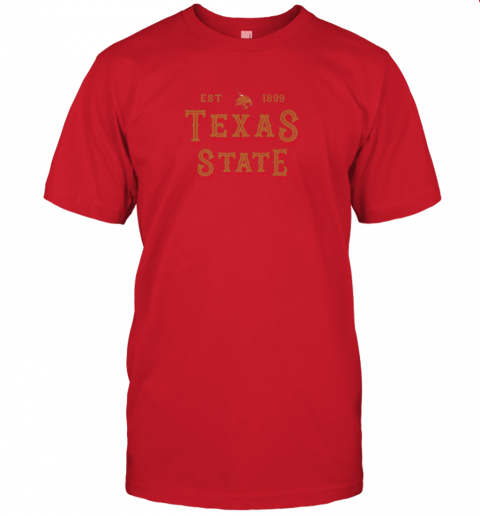 q2u1 texas state bobcats womens college ncaa jersey t shirt 60 front red