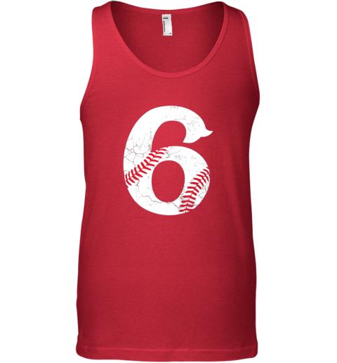 n4vp kids happy birthday 6th 6 year old baseball gift boys girls 2013 unisex tank 17 front red