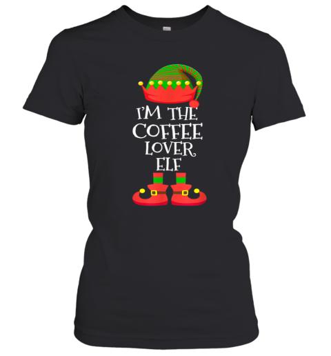 'M THE Coffee Lover ELF Christmas Xmas Elf Group Costume Women's T-Shirt