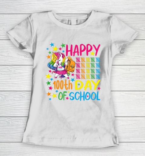 Happy 100th Day Of School Unicorn Women's T-Shirt