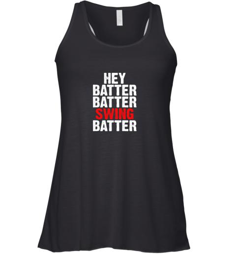Hey Batter Batter Swing Batter Funny Baseball Racerback Tank