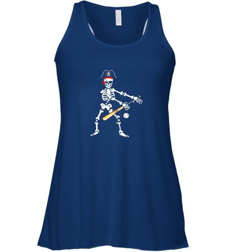 kzsy skeleton pirate floss dance with baseball shirt halloween flowy tank 32 front true royal