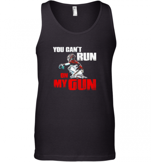 You Cant Run On My Gun Shirt Baseball Tank Top
