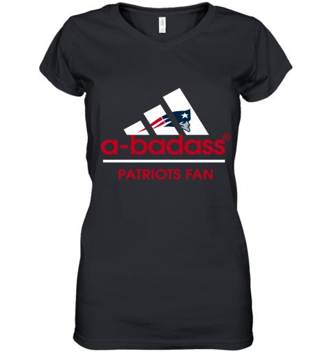 A badass New England Patriots Mashup Adidas NFL Shirts Women's V-Neck T-Shirt