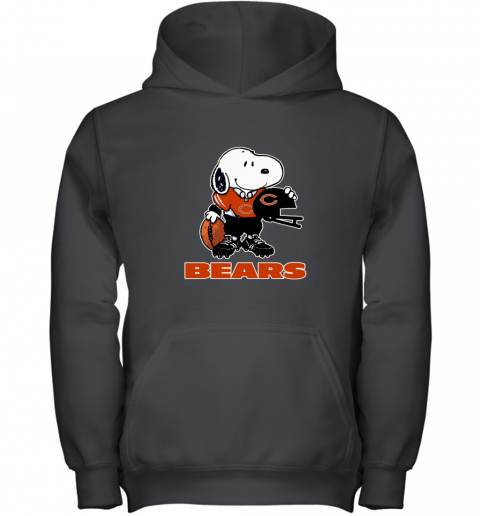 Snoopy A Strong And Proud Chicago Bears Player NFL Youth Hoodie