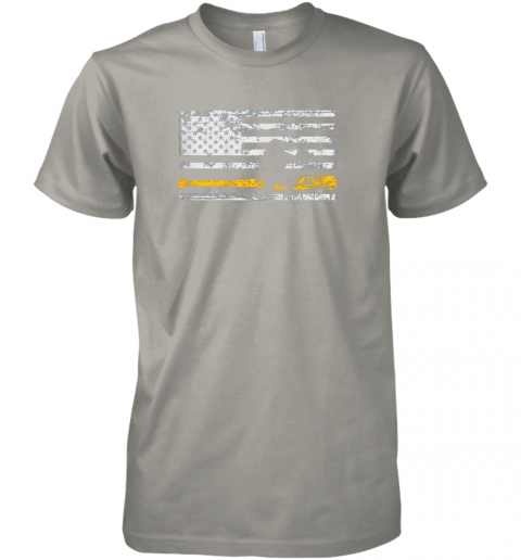 puuw softball catcher shirts baseball catcher american flag premium guys tee 5 front light grey