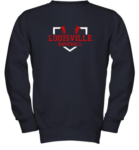 lxwm vintage louisville baseball kentucky gift youth sweatshirt 47 front navy