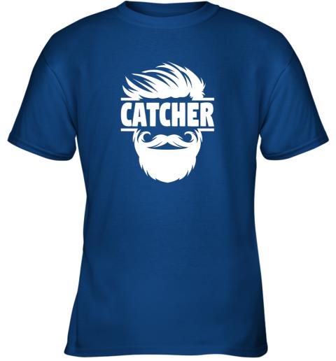 jc4s bearded baseball catcher youth t shirt 26 front royal