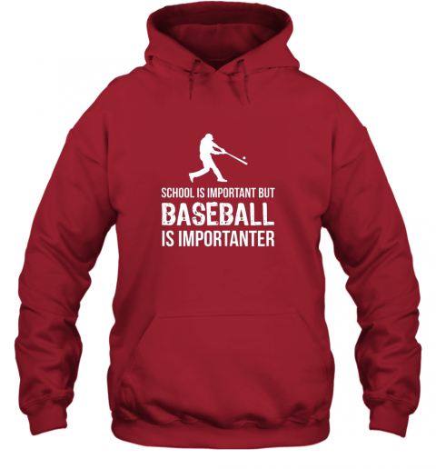 wmpu school is important but baseball is importanter gift hoodie 23 front red
