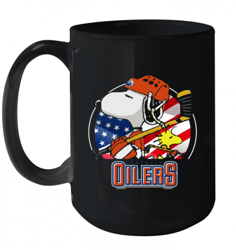 Edmonton Oilers Snoopy And Woodstock NHL Ceramic Mug 15oz
