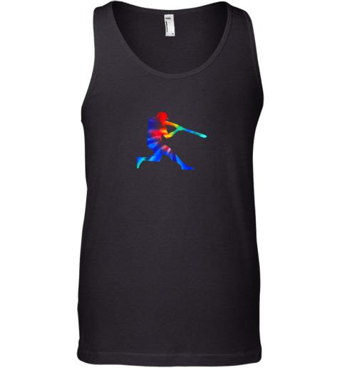 Tie Dye Baseball Batter Shirt Retro Player Coach Boys Gifts Tank Top