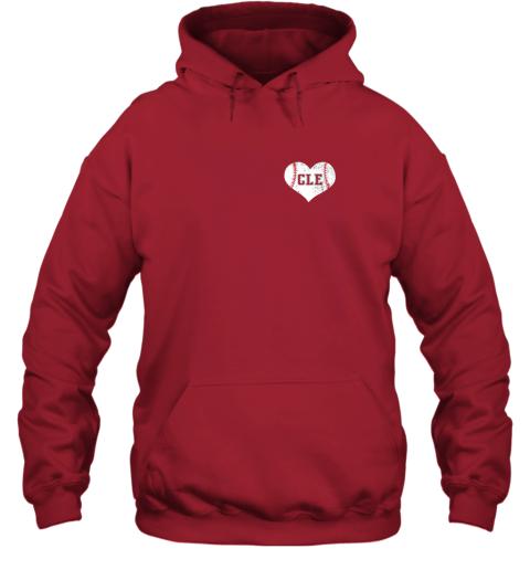 ulfw vintage cleveland baseball sweatshirt ohio cle hoodie 23 front red