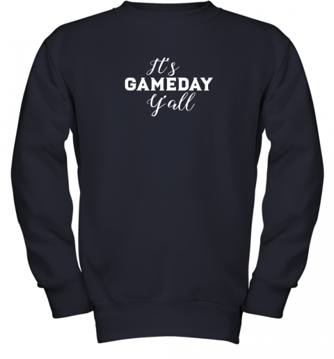 t2zo it39 s game day y39 all football baseball basketball youth sweatshirt 47 front navy