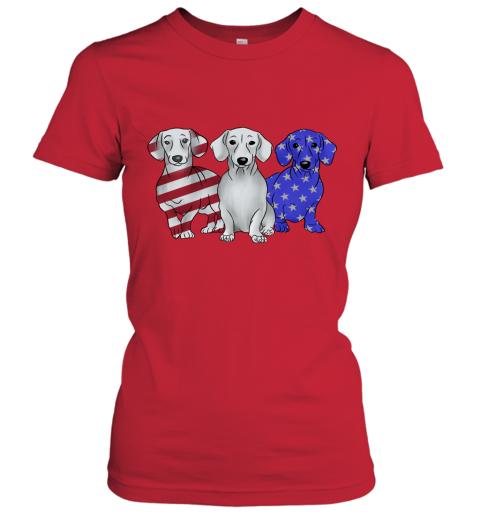 Dachshund American Flag Women's T-Shirt