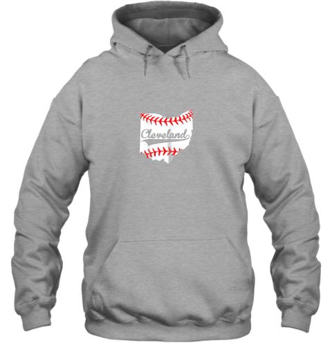 qiqu cleveland ohio 216 baseball hoodie 23 front sport grey