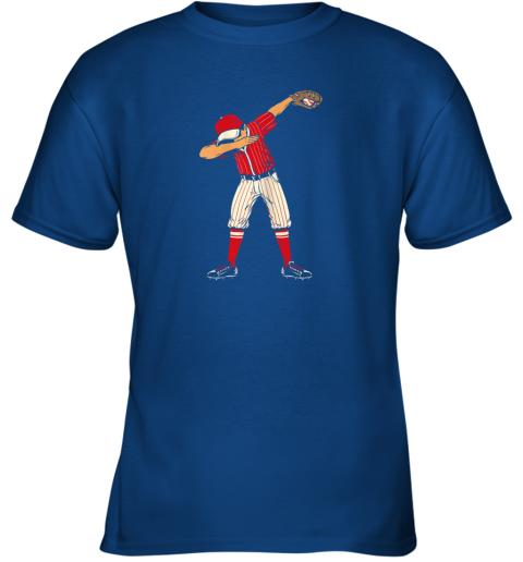 dowk dabbing baseball catcher gift shirt kids men boys bzr youth t shirt 26 front royal