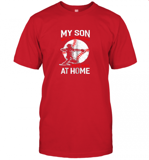 iljc my son will be waiting for you at home baseball dad mom jersey t shirt 60 front red