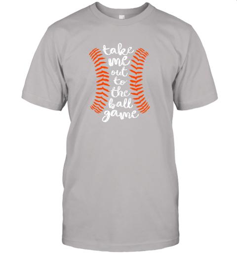 nqoq take me out ball game shirt baseball song orange black blue jersey t shirt 60 front ash