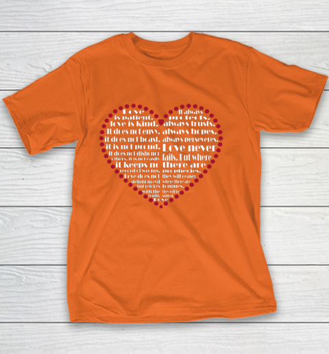 Love is patient love is kind Valentine Hearts Valentines day Youth T-Shirt 4