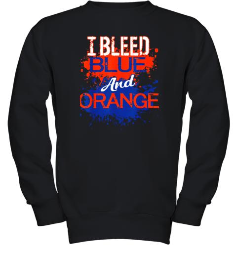 I Bleed Blue And Orange Fan Shirt Football Soccer Baseball Youth Sweatshirt